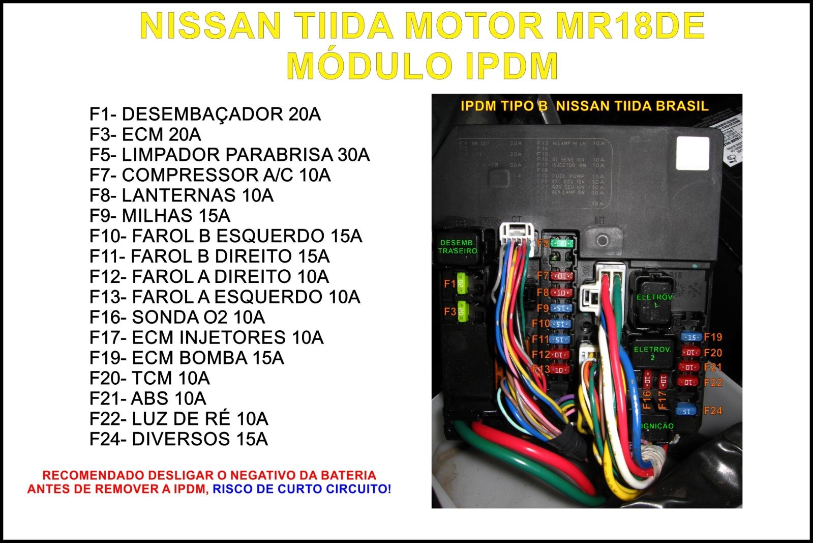Instalação sensor de abertura de portão no Tiida 2010 21cv7f8