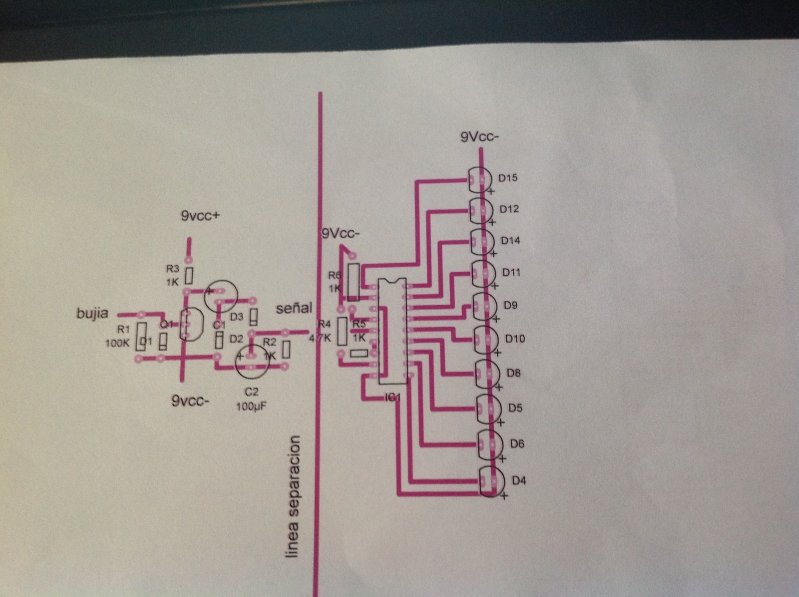 Tacómetro de LED,s casero 21juc8h