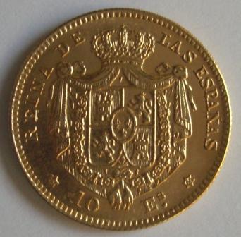 10 Escudos Isabel II 1869 *18*69 23komqs