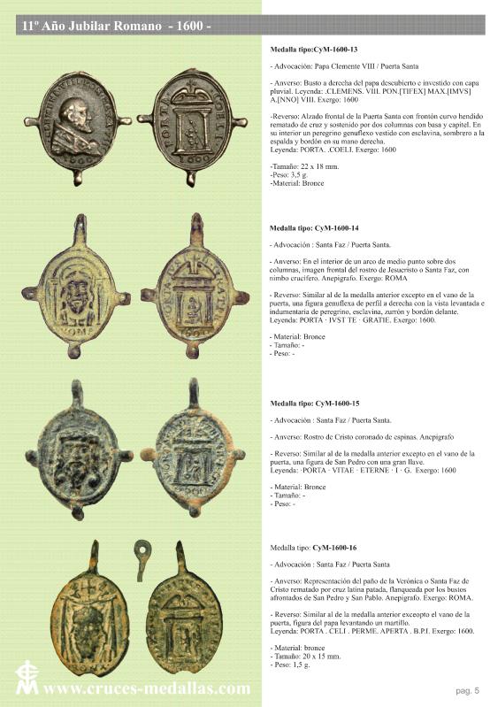 jubilares - Recopilación de medallas con fecha inscrita de los Años Jubilares Romanos  2414ljl
