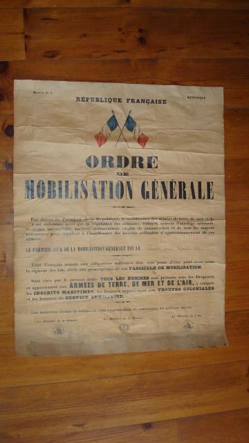 Ordre de Mobilisation Générale 241s0ue