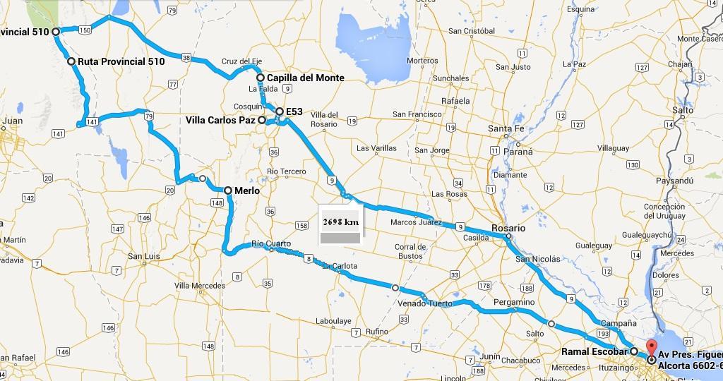BS. AS. - CAPILLA DEL MONTE - P.N. TALAMPAYA - P.N. ISCHIGUALASTO (Valle de la Luna)  - MERLO - BS. AS. 250rnue