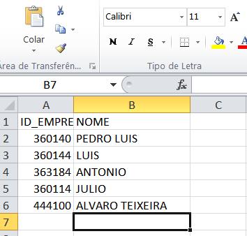 [Resolvido]Atualização automática na importação Access Excel 25i3if4
