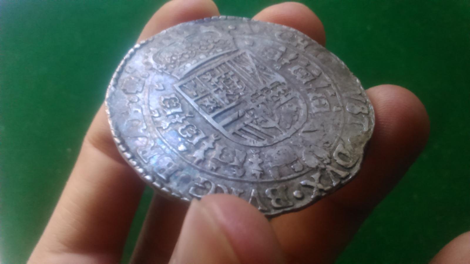 1 Patagón. Felipe IV 1654 Amberes. Dedicada a Lanzarote 260u91e