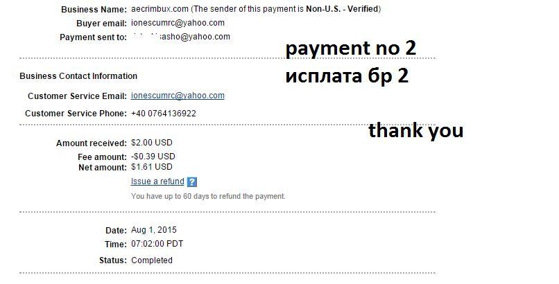 Moja druga isplata sa rumanskog sajta aecrimbux 263xxua