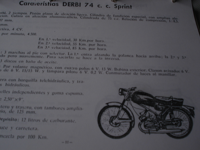 Derbi  74 sprint con deposito de Antorcha  28vez5h