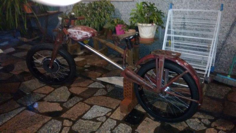 Bicicleta eléctrica a partir de moto Guzzi (+sidecar??) 2czd2td