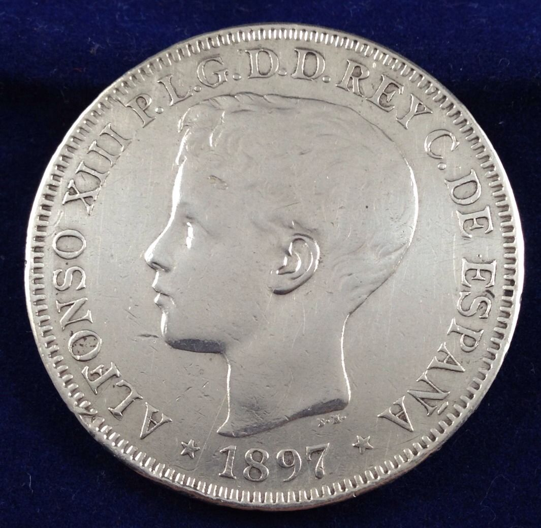 otro Peso 1897 Filipinas 5 Pesetas Manila  2czwzr8