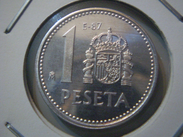 1 Peseta 1987-E87 Juan Carlos I 2exu2d1