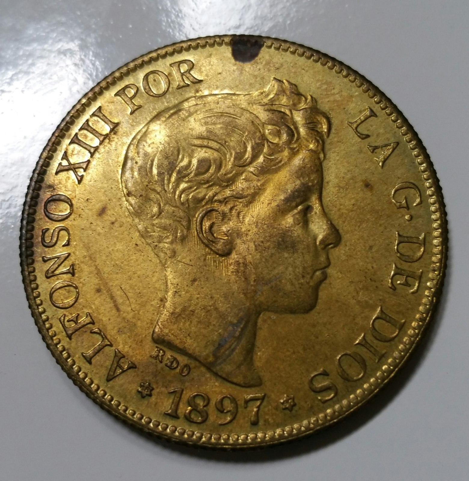 Ayuda reproducción 100 pesetas Alfonso XIII 1897 2h3a715