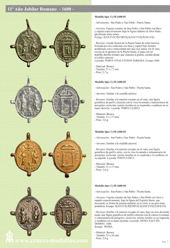 jubilares - Recopilación de medallas con fecha inscrita de los Años Jubilares Romanos  2hp0o5y
