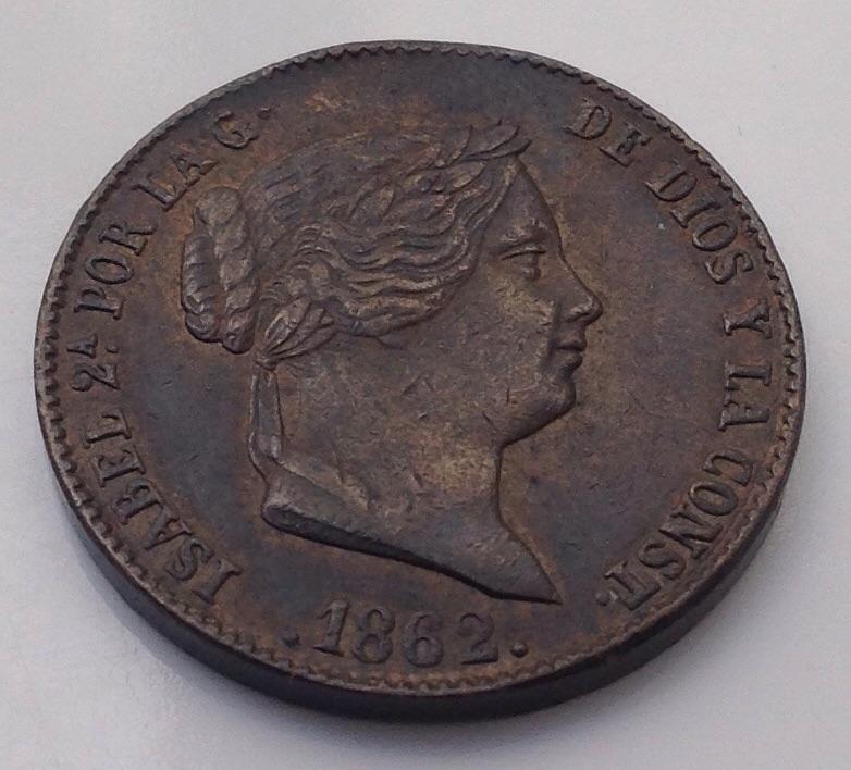 25 CENTIMOS DE REAL DE 1852. ISABEL II. DEDICADA A JAVI. 2jfc3l2