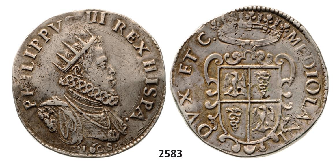 1 Ducatón Felipe III Milán 2pskewi