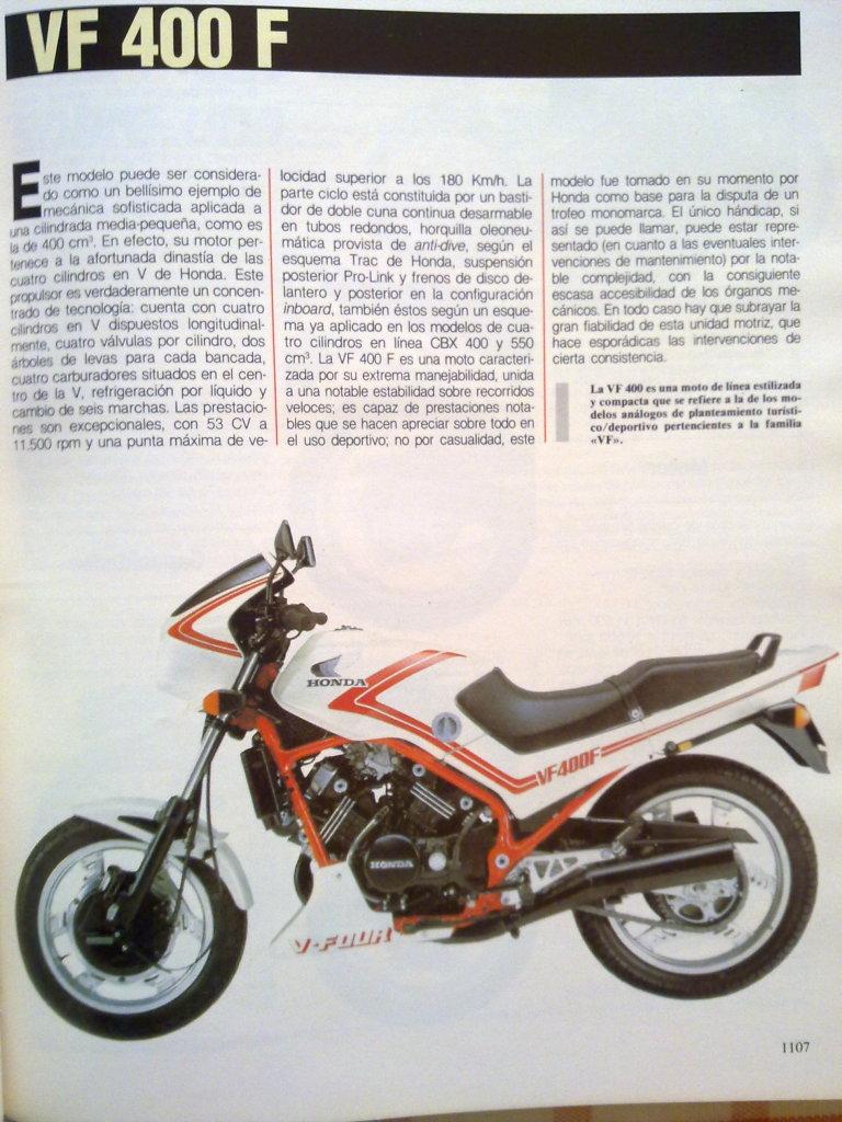 Honda VT 250 F 2rfps7a