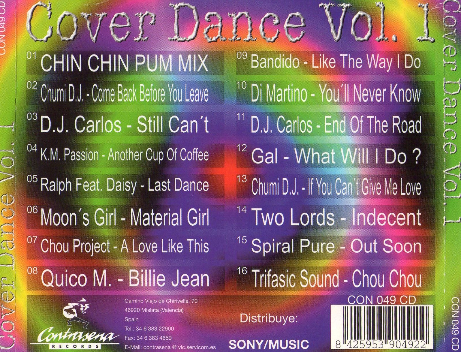 COVER DANCE VOL .1 -1997 - COMPILATION - 192KBPS - CONTRASEÑA RECORDS 2u93lzo