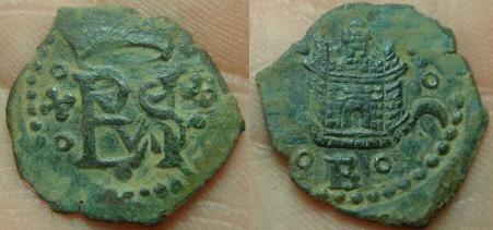 2 maravedís de Felipe II , Cuenca. 2v8lj4k
