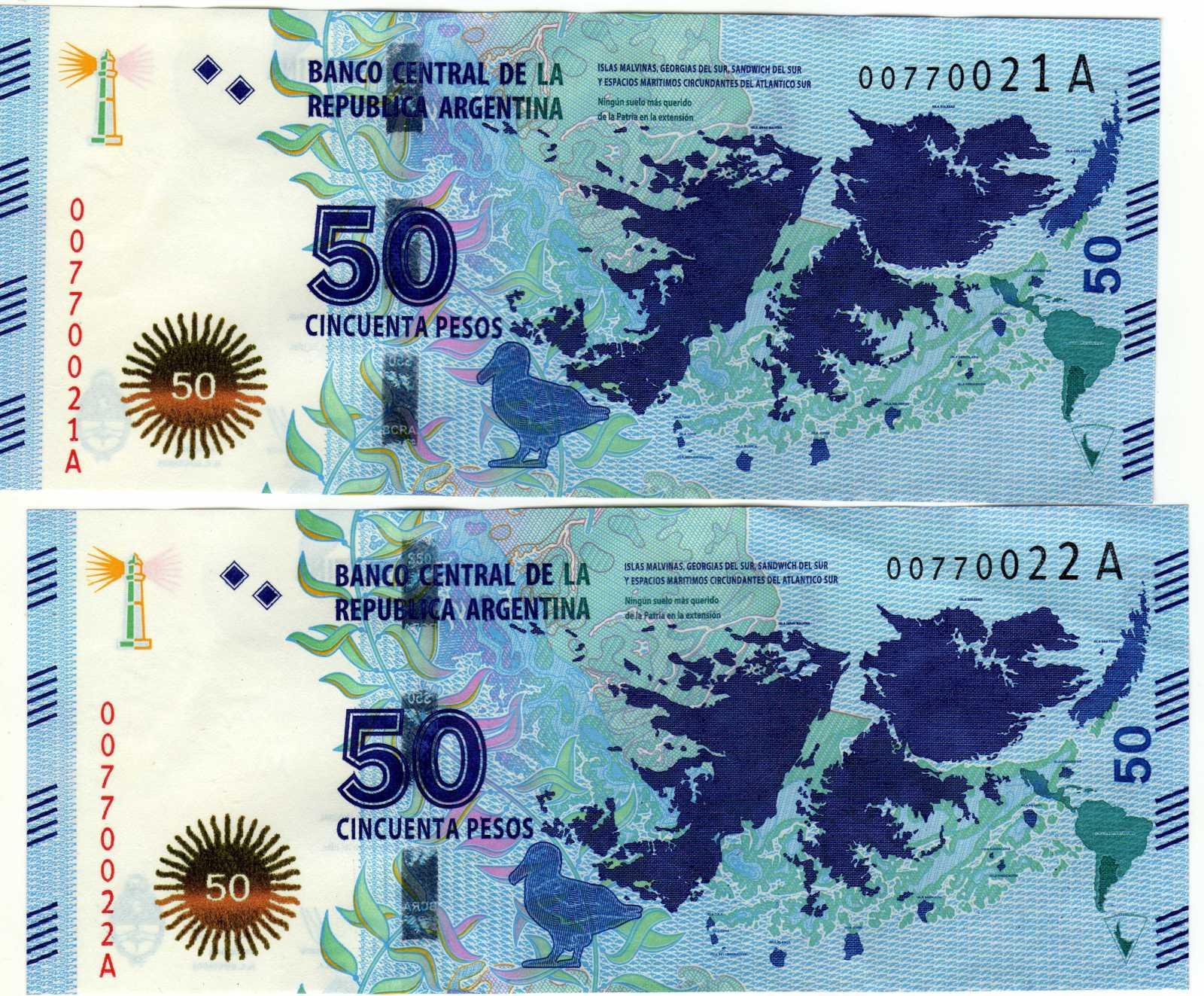 Nuevo Billete de 50 Pesos de Argentina - Un Amor Soberano 2z4jrid