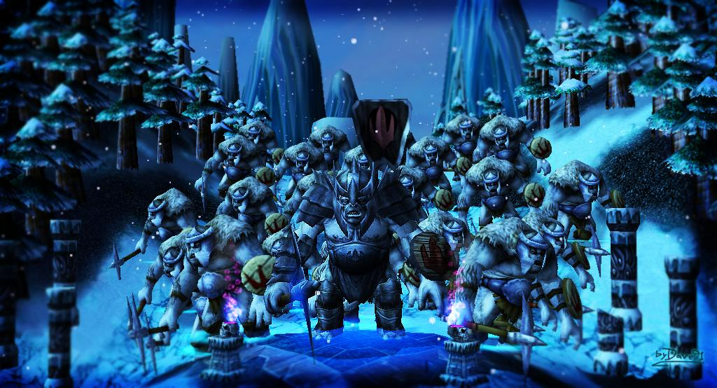 Hero Snow Troll + Snow Trolls (Trolls de las Nieves) EDICIÒN ESPECIAL! 312z043
