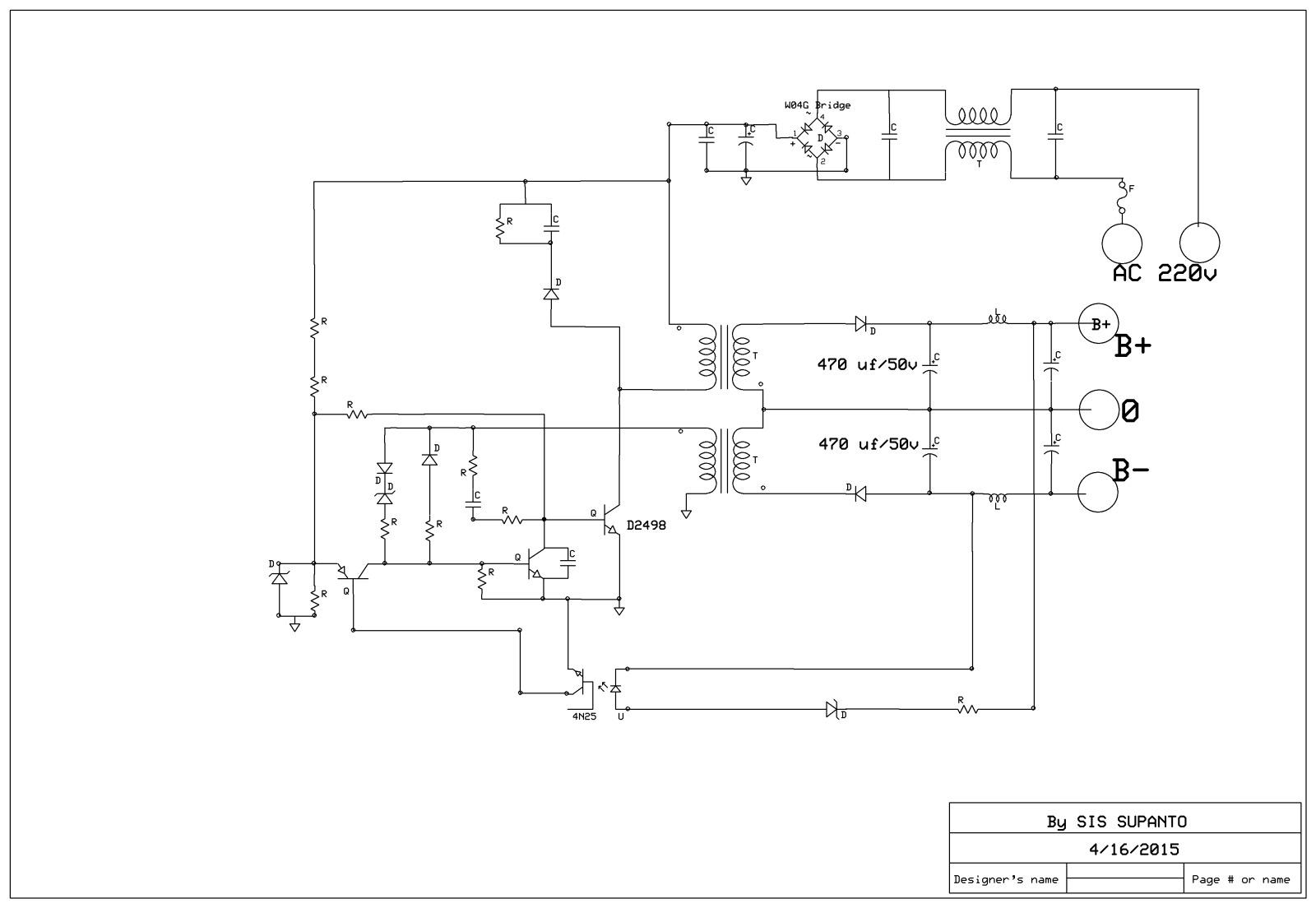 POWER SUPPLY AC MATIK  4ui78o