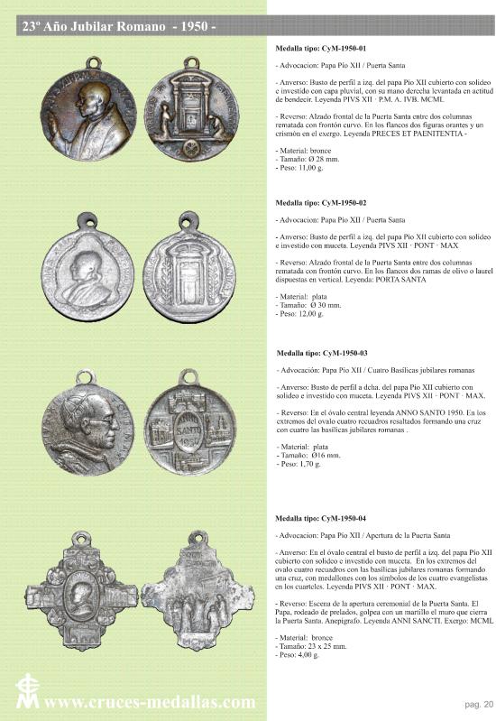 jubilares - Recopilación de medallas con fecha inscrita de los Años Jubilares Romanos  98vkw5