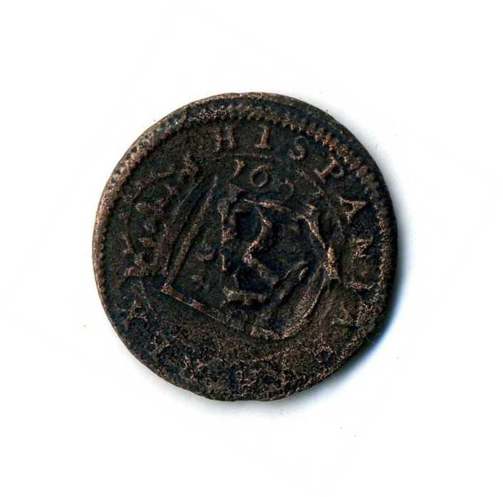 8 Maravedis de Felipe III Segovia 1604 con una reacuñación del anagrama. A4u99c