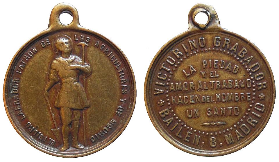 San Isidro Labrador (medalla publicitaria) Abk1lg