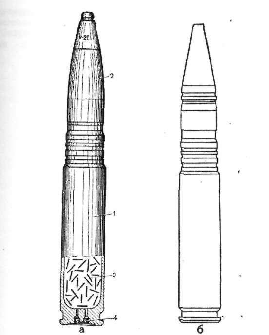 Бронебойно-зажигательный (БЗ) снаряд патрона 23×152 мм. или 23×115 мм. Dpd8j7
