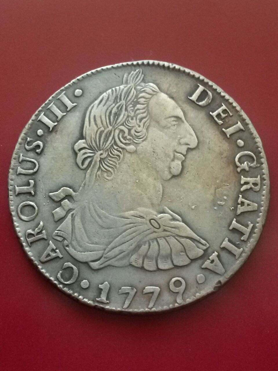 8 reales 1779. Carlos III, Potosí F045k9