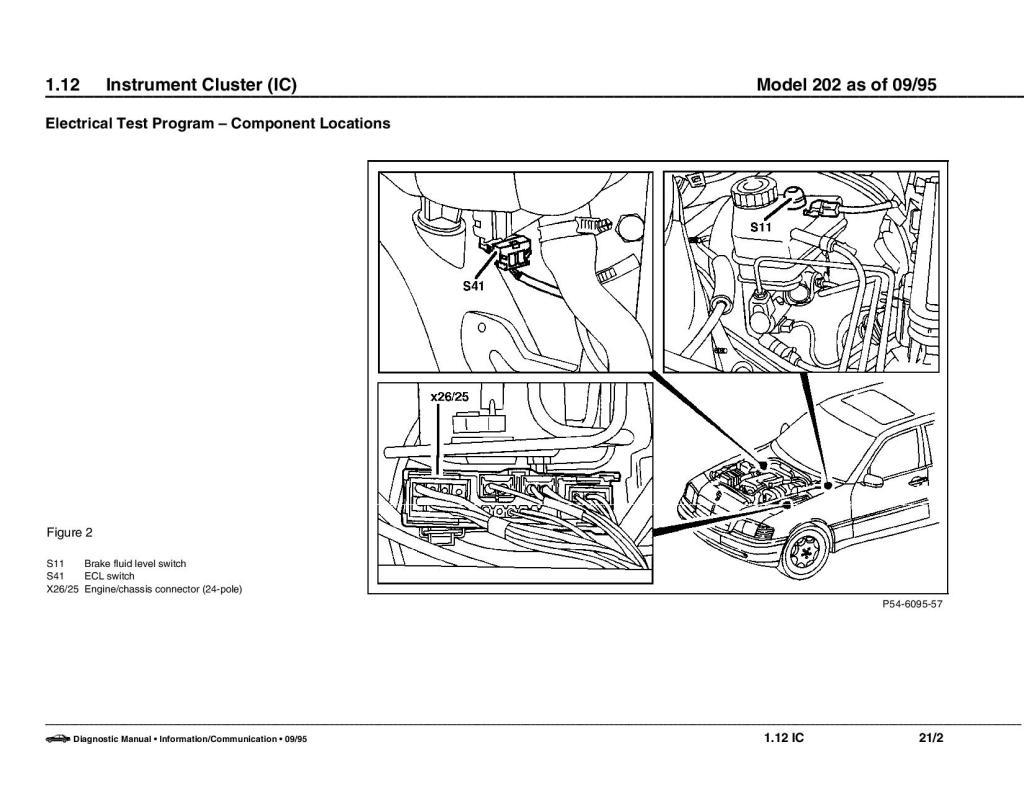 Esquema elétrico Mercedes Classe C W202 - 93 a 99 F386f9