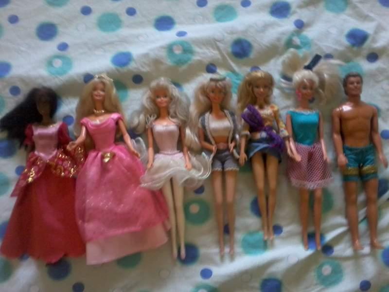 barbie - barbie lotto 7 pezzi anni 90 Feqdzd