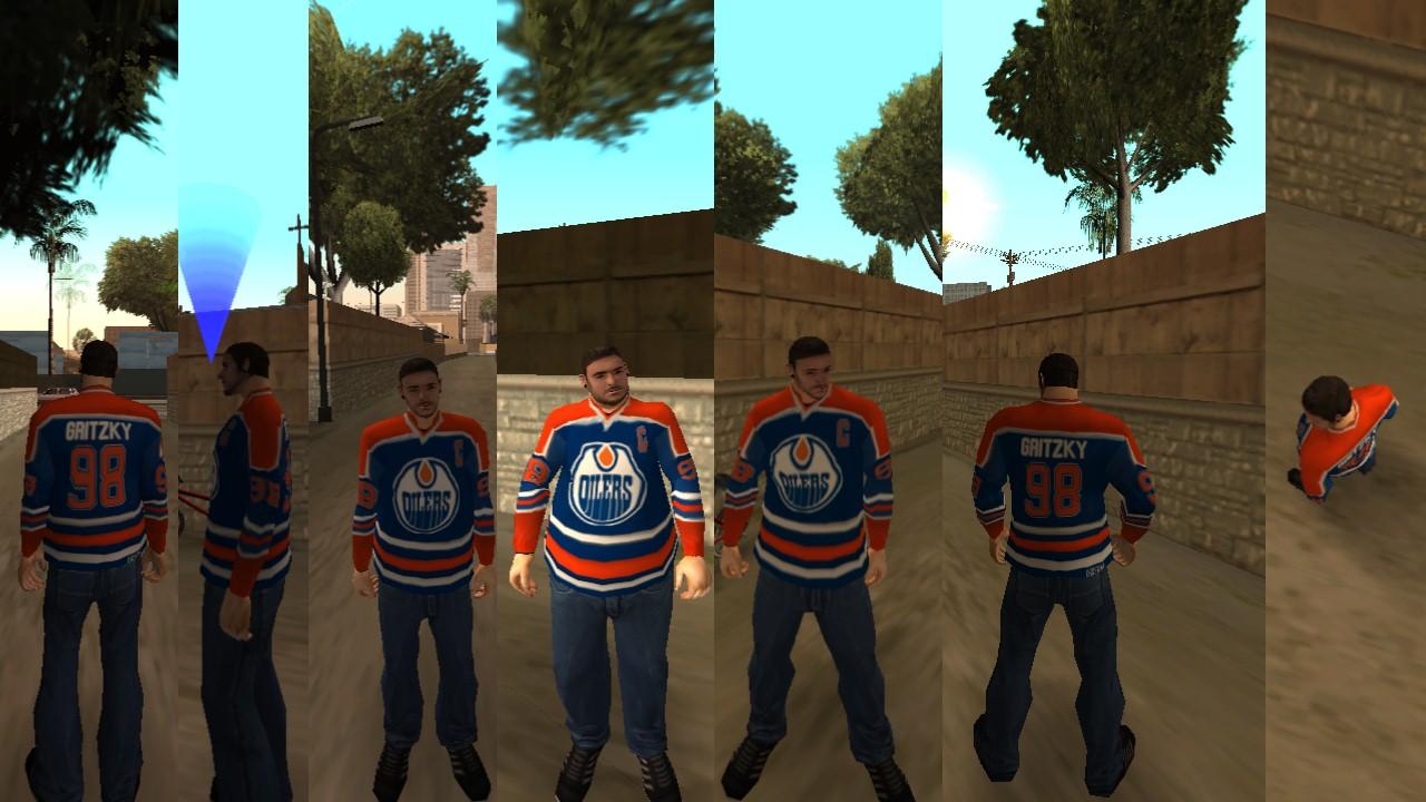 """Blusa de Hockey Oilers """"GRITZKY"""" - Todo mundo odeia o Chris para o CJ Sb5yf7"""