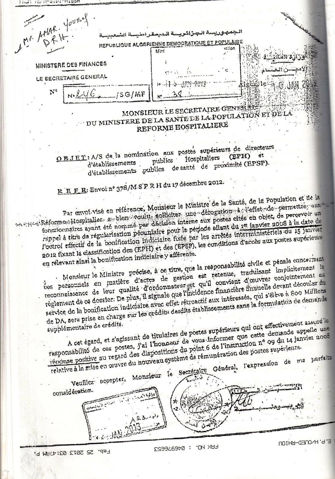 المراسلات الصادرة عن المديرية العامة للميزانية - صفحة 2 T0rxc9