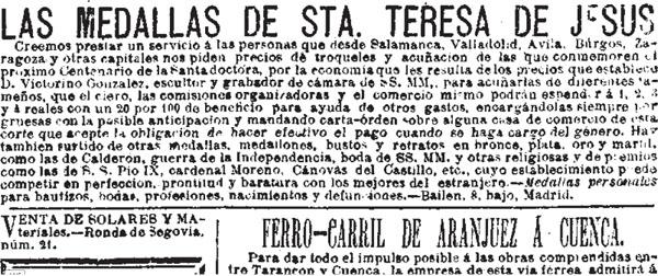 San Isidro Labrador (medalla publicitaria) Wskcoo