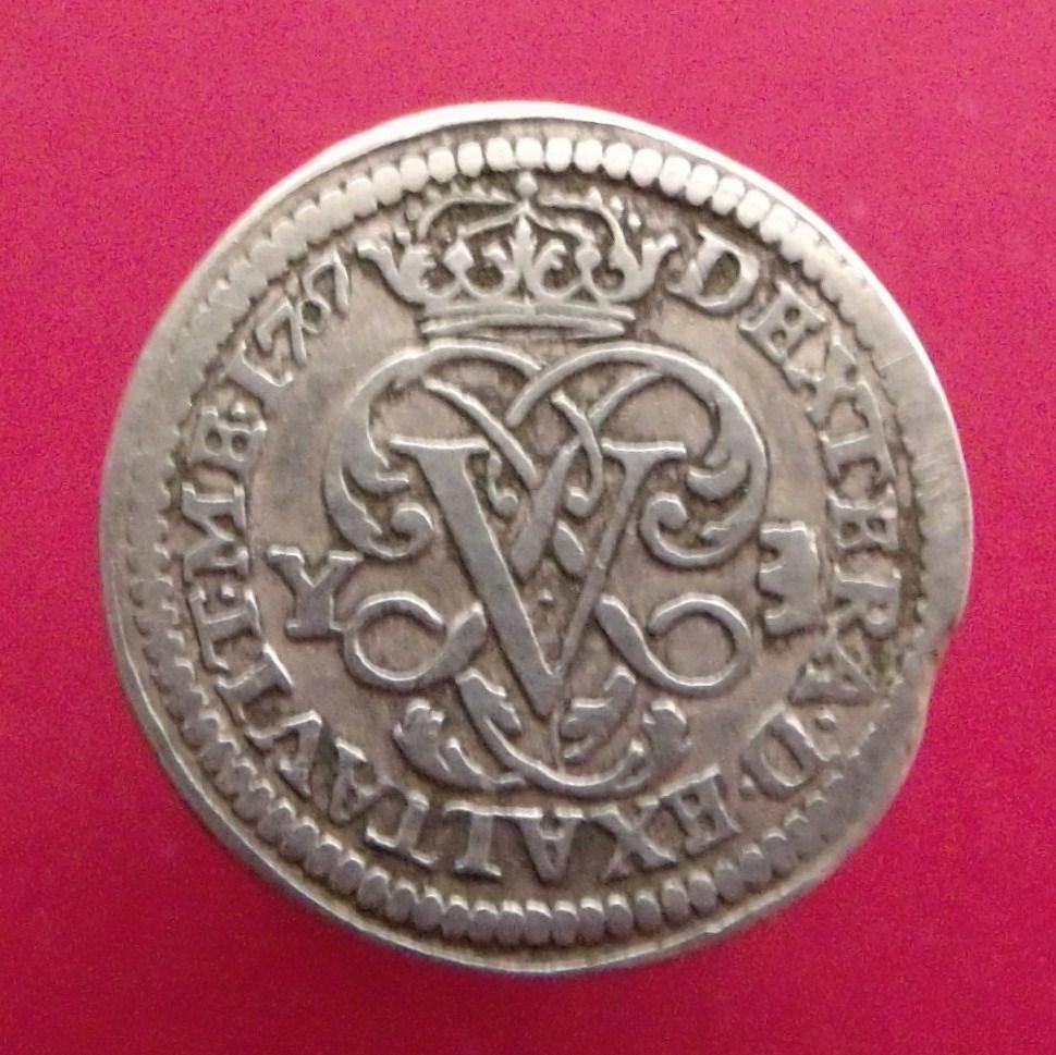 1 real de 1707. Felipe V ceca Ingenio de Segovia. X0z4as