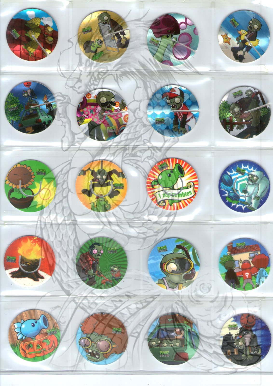 Tazos Plantas Vs Zombies de SABRITAS X6m0aq