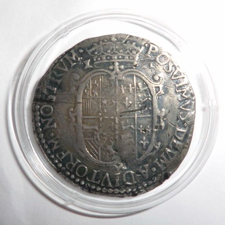 Chelín (schilling) 1554-1555 de María Tudor y Felipe II 10ek2ma