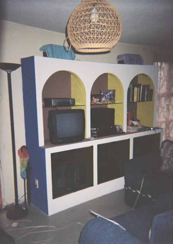 Mueble, gabinete y arcos, hechos con Tablaroca 1192l2b