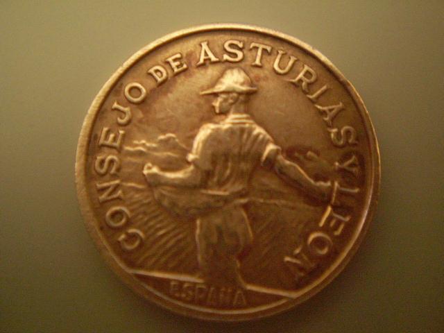 1 Peseta 1937 Consejo de Asturias Y León  1494ls0