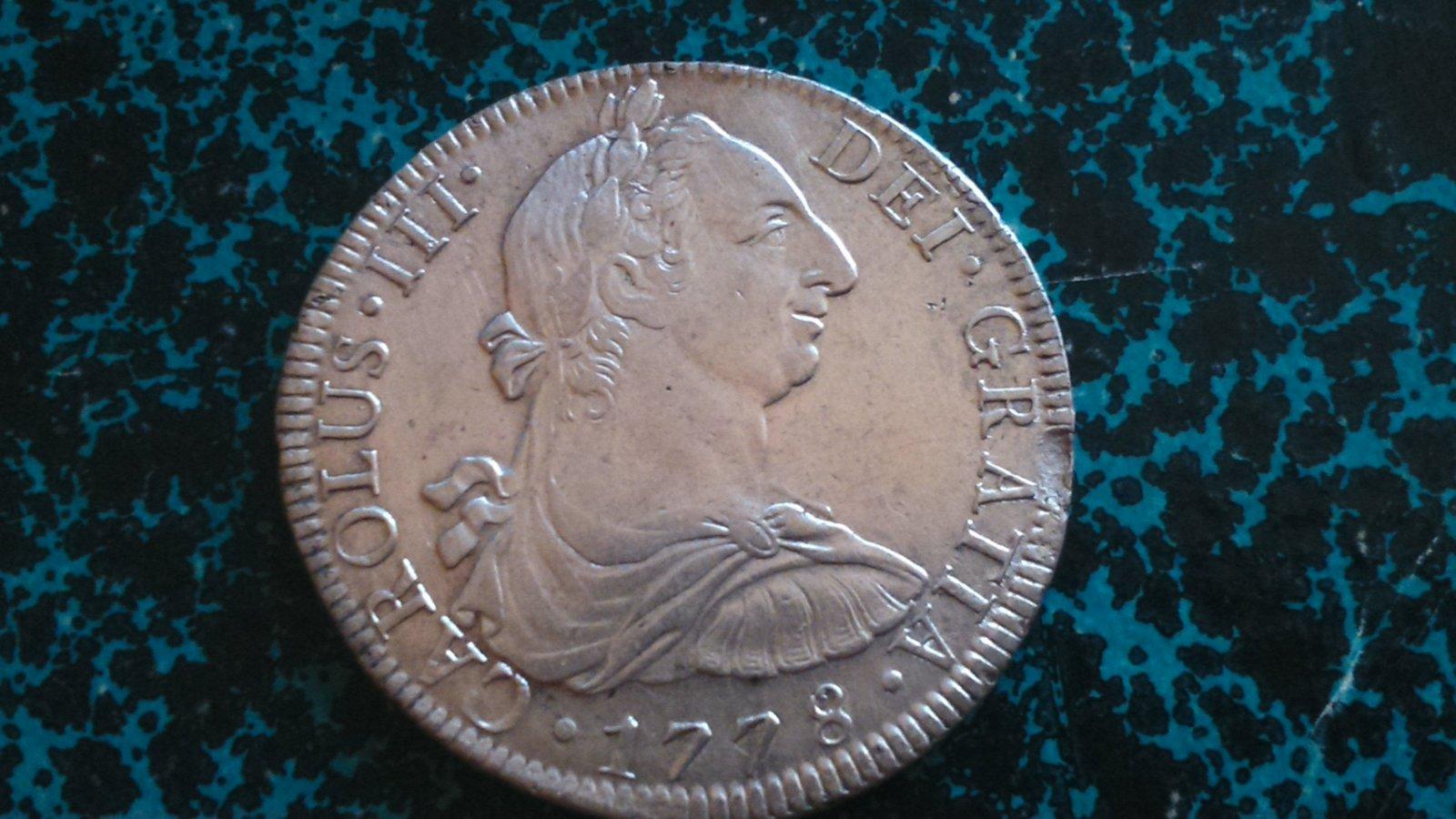 8 reales 1778. Carlos III, México FF 15i007s