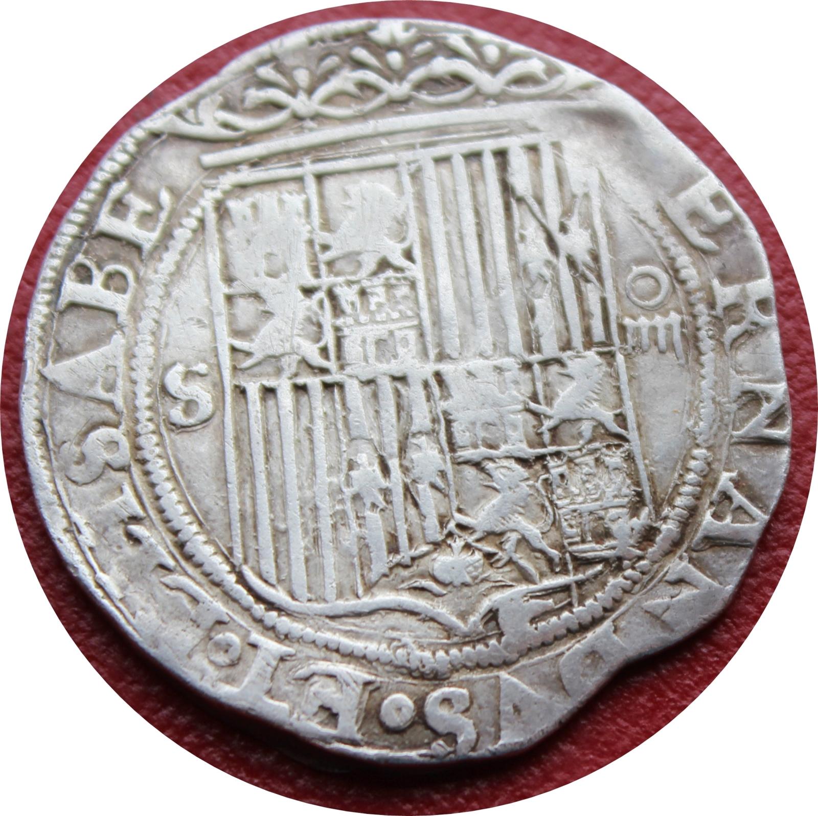 4 Reales a nombre de los Reyes Católicos (1516-1566) Sevilla. 1zccxk