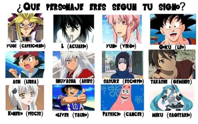 Que Personaje De Anime Eres Según Tu Signo