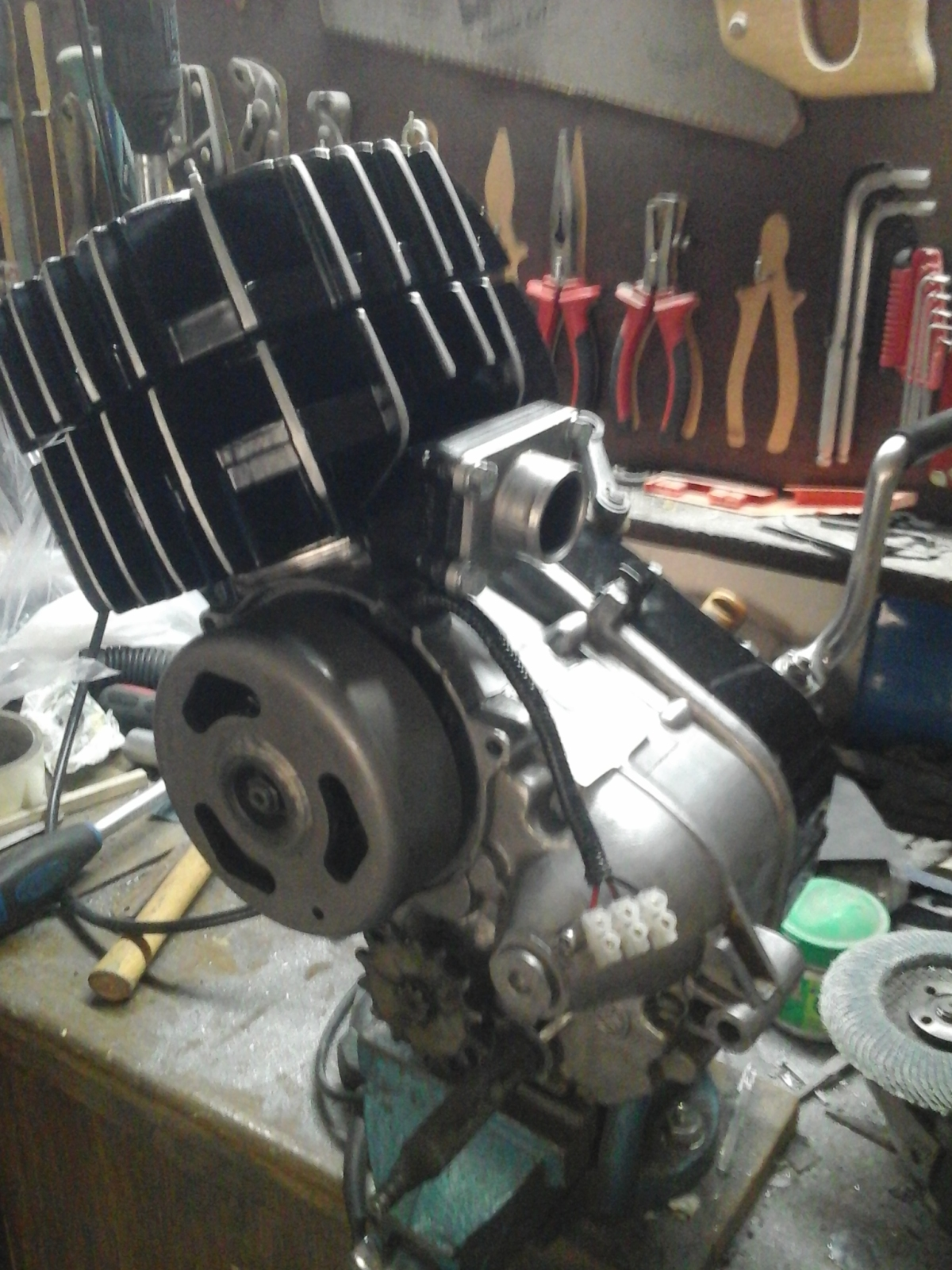 Mejorando cilindro Puch 50 4V 1zfu1za
