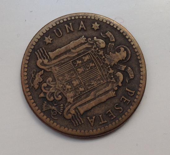 1 peseta 1947 *74? 20rr66v