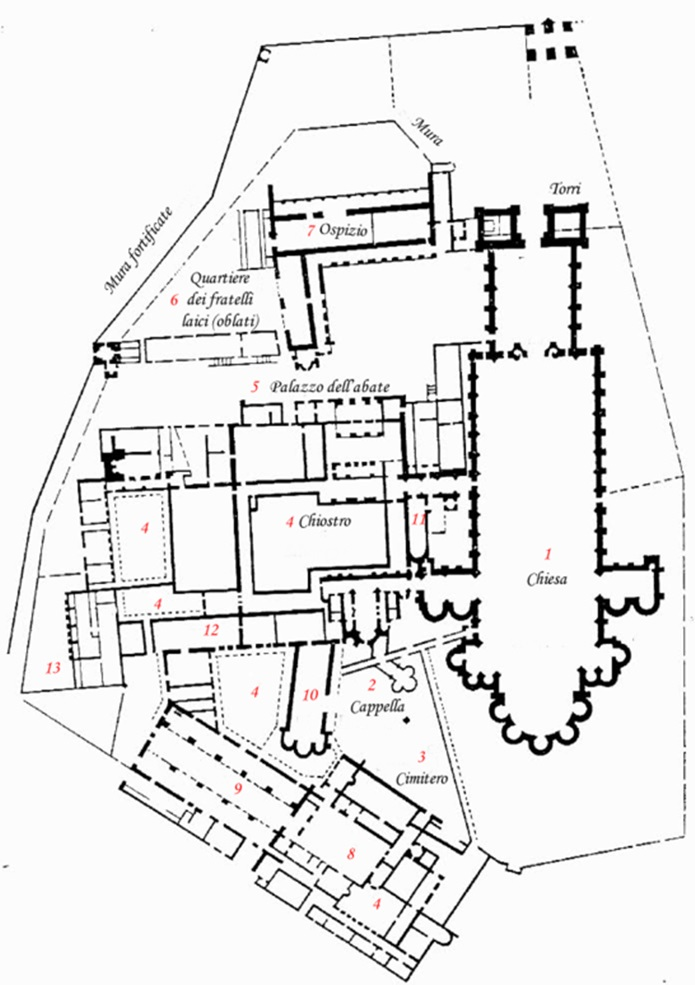Pianta dell'Abbazia Cistercense di Fornovo 213rhoj