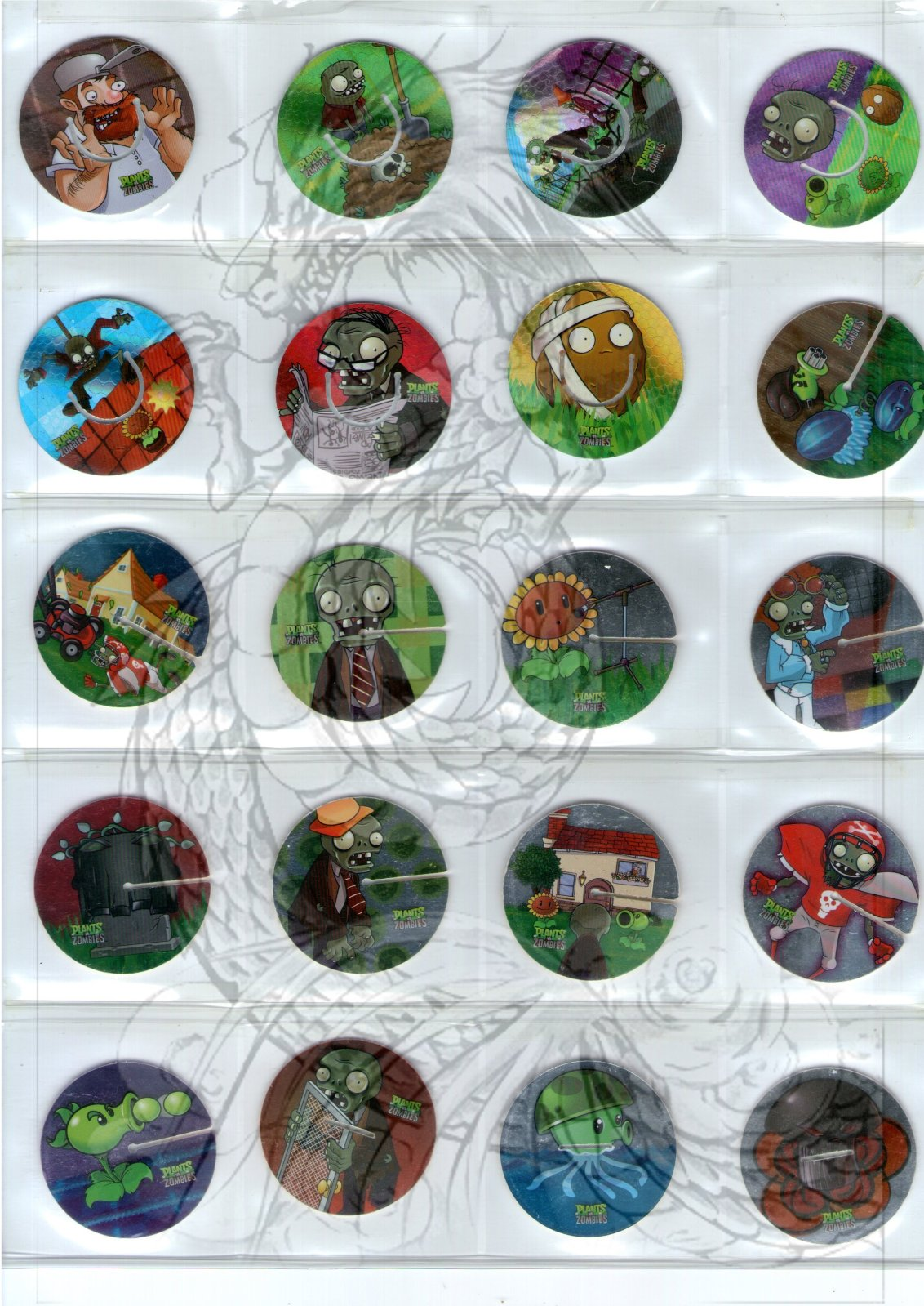 Tazos Plantas Vs Zombies de SABRITAS 25hmnwn