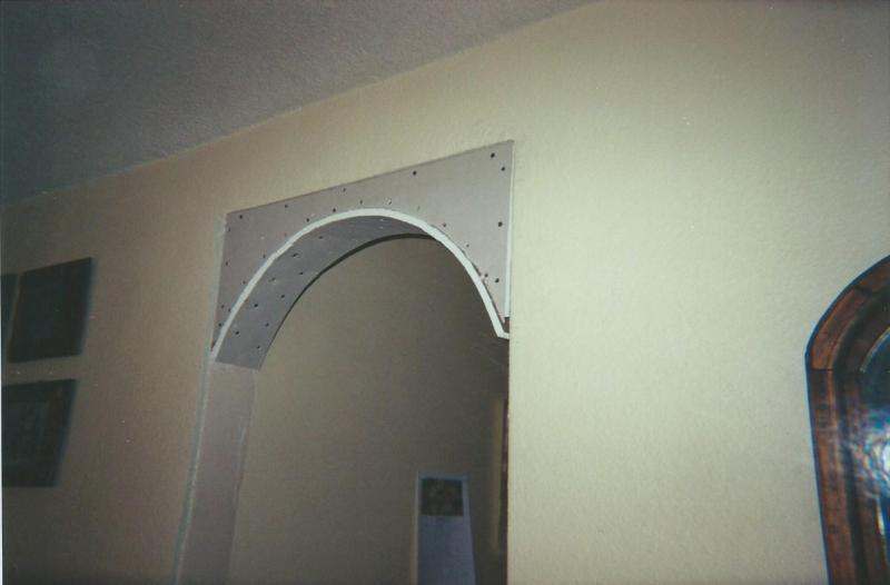 Mueble, gabinete y arcos, hechos con Tablaroca 29aplbc