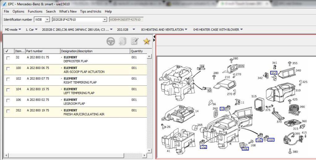 tecla EC e circulação de ar não funciona (W202) 29fzac8