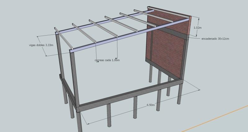 Estructura quincho + techo. 29uue4z