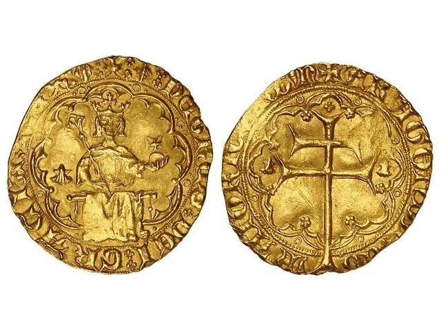 """Rals d'or de Pere I de Mallorca (variantes del tipo """"venera"""") 2a8hv6g"""