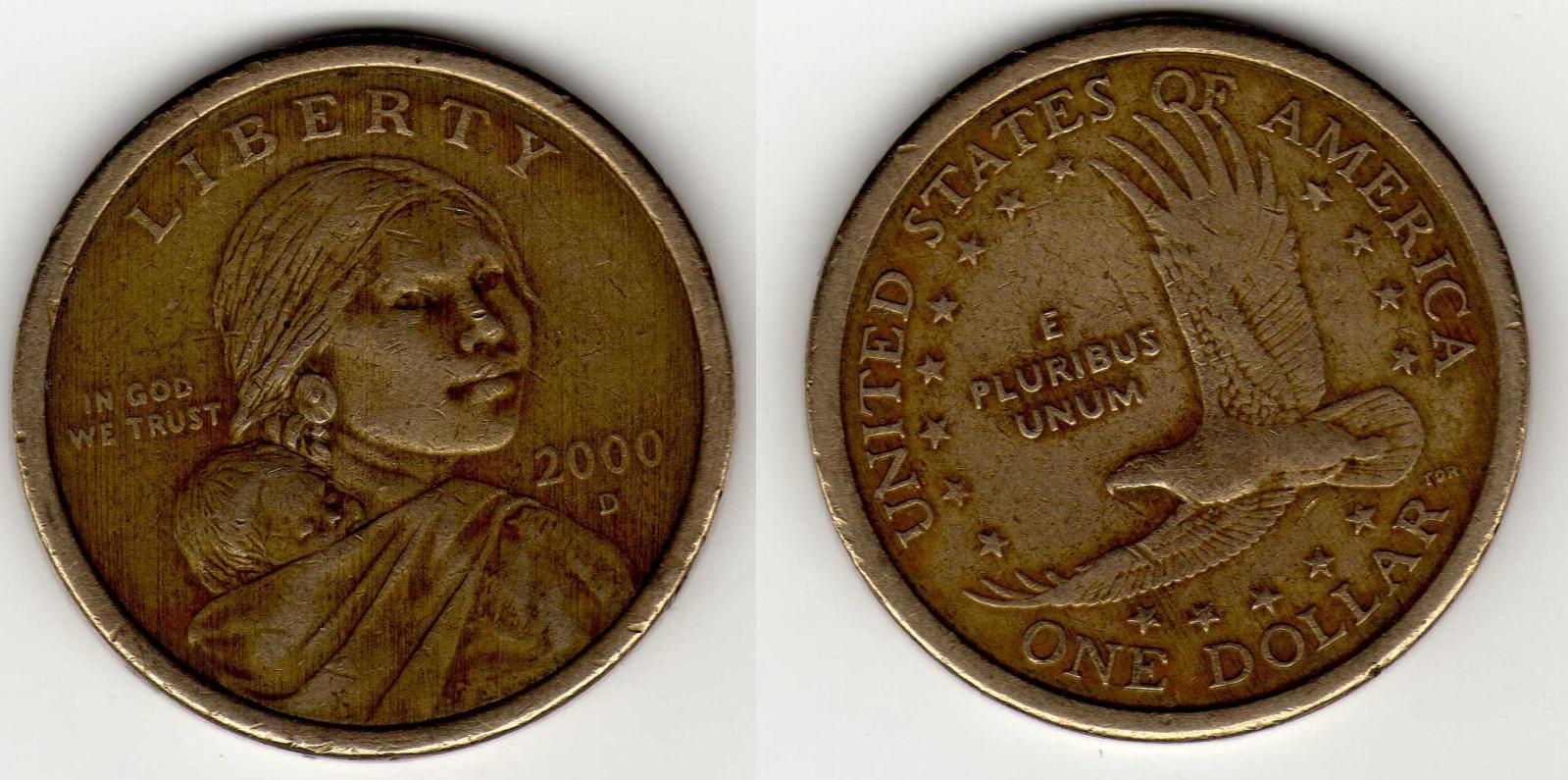 Primer moneda de 1 Dolar serie Nativos. 2ce5e8m